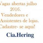 Cia Hering abre vagas de emprego nesse mês de julho