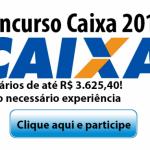 CONCURSO CAIXA 2016 MAIS DE MIL VAGAS PARA NÍVEL MÉDIO! SALÁRIOS DE ATÉ R$ 3.625,39.