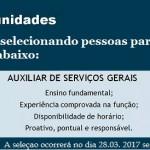 Contrata-se Auxiliar de Serviços Gerais
