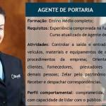 contrata -Agente de Portaria Salario + Beneficios Formação ensino médio completo.