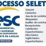 SESC ABRE PROCESSO SELETIVO COM + DE 980 VAGAS EM ABERTO- SAIBA MAIS AQUI