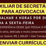 Contrata-se secretarias com e sem experiencia para escritório advocacia . Salario+ comissão por processo ganho.