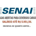 Sesi e Senai abrem processo seletivo para Nível fundamenta e Médio remuneração inicial 5.951,56