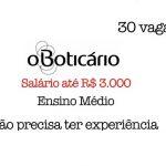 Vagas O Boticário: Salário até R$ 3.000  Ensino Médio