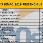 Estão abertas as inscrições para o cursos Grátis do Senac 2019