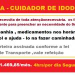 VAGAS  PARA CUIDADOR DE IDOSO – CONFIRA E ENVIE SEU CURRÍCULO!