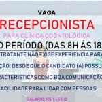 Contata Recepcionista para Consultório Odontológico – Salário R$ 1.458,12 !
