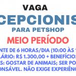 CONTRATA  – SE RECEPCIONISTA PARA CLÍNICA ODONTOLÓGICA. MEIO PERÍODO – Salário de R$ 1.502,48!