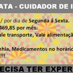 CONTRATA-SE URGENTE CUIDADOR(A) DE IDOSO – SEGUNDA Á SEXTA!